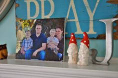 20 minute crafter-DIY photo canvas  USING TISSUE PAPER AND A CANVAS