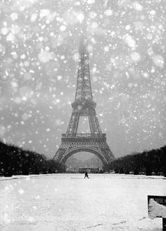 Robert Doisneau - The Eiffel Tower in the snow. Paris, 1964