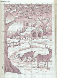 Cross-stitch Winter Scene, part 2...  color chart on part 3...    06.jpg