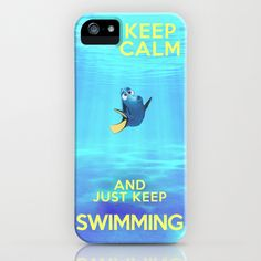 Keep Calm and Just Keep Swimming REDUX iPhone & iPod Case by Bluebird Design from Cool Iphone Cases, Cool Cases, Cute Phone Cases, 5s Cases, Disney Phone Cases, Coque Iphone 6, Keep Swimming, Tecno, Iphone Accessories