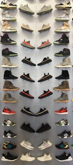 978459c9bc58f4 The back wall at Flight Club is a work of art. Cool Footwear