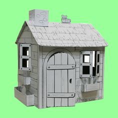 Cardboard Cubby House Green Ant Toys Online Toy Store www.greenanttoys.com.au