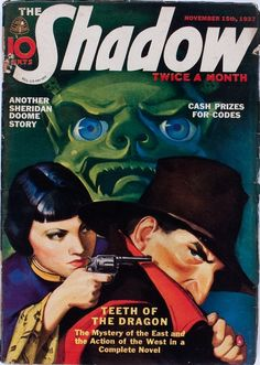 The Shadow - November 1937 | pulp cover crime vintage art paperback
