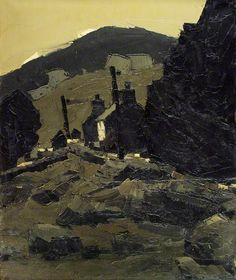 Cottages, North Wales. Kyffin Williams. Welsh painter and printmaker. After being advised to take up art by a doctor on account of his 'abnormality' (epilepsy), he studied at the *Slade School, 1941–4. He taught at Highgate School, London, 1944–73, then retired to his native Anglesey.