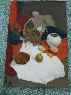 1st year life subject practice painting in Beijing arts studio. Size A0.