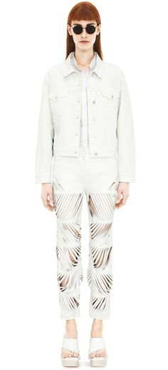 Tram stripe white denim | Acne Studios