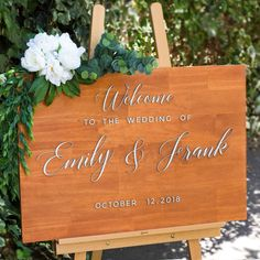 One of our most popular products! Wooden Wedding Welcome Sign 60X90cm | Rustic Wedding Signage | Australia