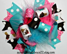 Ice Cream Hairbow Over the Top Hair Bow by sweetiepiehairbows22, $10.99