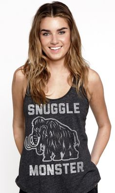 snuggle monster tank top