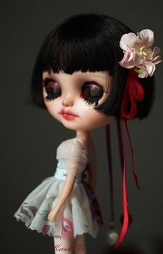 ooak custom Blythe doll by KarolinFelix