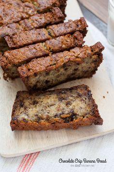 Chocolate Chip Banana Bread from thelittlekitchen.net