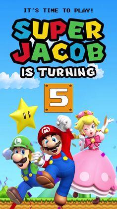 Super Mario Party, Mario Party Games, Super Mario Birthday, Mario Birthday Party, Super Mario Bros, 7th Birthday, Imprimibles Toy Story, Birthday Party Invitations Free, Invitation Ideas