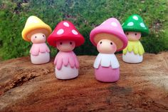 Toadstool Munchkins / Gnomes to accessorise your by LaPetiteGarden
