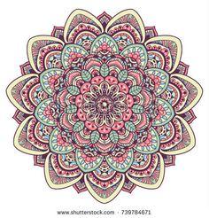 Mandala Art Lesson, Mandala Drawing, Mandala Tattoo, Stencil Patterns, Doodle Patterns, Hand Embroidery Patterns, Design Mandala, Fractal Art, Illustrations