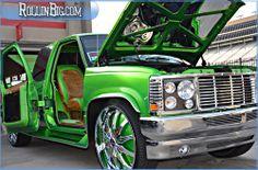 the real jetsons house | 92 Chevy Silverado Stepside Custom At Stuntfest