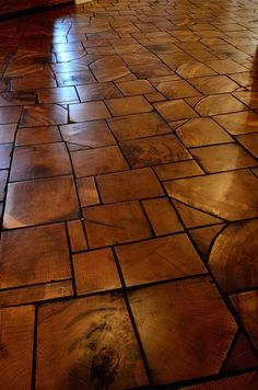 Your basement flooring options are not really any different from the flooring options elsewhere in your home. Everything from ceramics to hardwood, all are possible choices for your basement floor… Wood Block Flooring, End Grain Flooring, Basement Flooring, Parquet Flooring, Wooden Flooring, Wood Blocks, Kitchen Flooring, Diy Wood Floors, Flooring Options