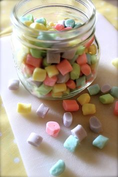 Butter mints in jar