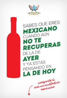 Eres mexicano cuando... Mexican Phrases, Tattoo Lettering Alphabet, Spanish Humor, Physical Pain, Pick Me Up, Tequila, Drink Sleeves, Vodka Bottle, Liquor