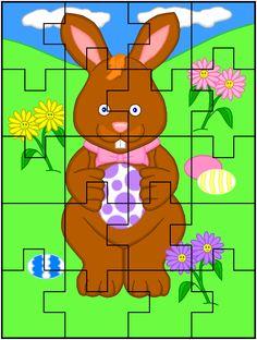 3 Number Puzzles, Jigsaw Puzzles, Kindergarten Activities, Preschool Activities, Diy And Crafts, Crafts For Kids, Happy Easter, Scrapbook Paper, Alphabet
