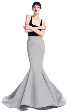 Mermaid Evening Skirt by Zac Posen for Preorder on Moda Operandi