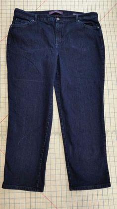 Gloria Vanderbilt Amanda Denim Jeans Short Dark Blue Pants Womens Plus size 16W  #GloriaVanderbilt #StraightLeg