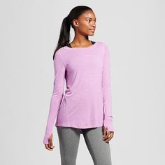 803fc6d4 Women's Heathered Long Sleeve Fashion Layering Top - C9 Champion® Layered  Fashion, C9 Champion