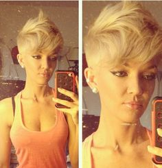 Short hair faux hawk #saschaswifey