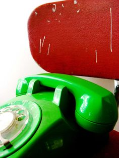 Neon green phone