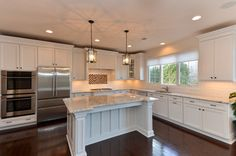 White Delicatus Granite Design Ideas, do I like these cabinets?