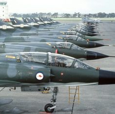 Mirages and F16's at RNZAF Base Ohakea 1984. Operation TRIAD