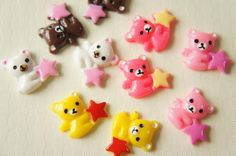 10 pcs Bear Holding  Star Cabochon (17mm20mm) DR028 on Etsy, £2.80