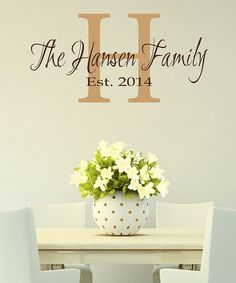 Take a look at this Brown & Light Brown Gorgeous Family Monogram Decal today!