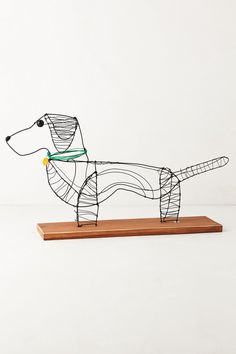 For the kids room  Wire Dog Sculpture By Kaitlyn McCane - anthropologie.com