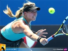 Our own rising star Eugenie Bouchard 2014 Australian Open #ausopen #tennis #geniebouchard