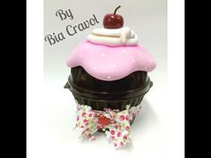 Porta acessórios de Cupcake em biscuit, by Bia Cravol no Programa Arte Brasil - YouTube