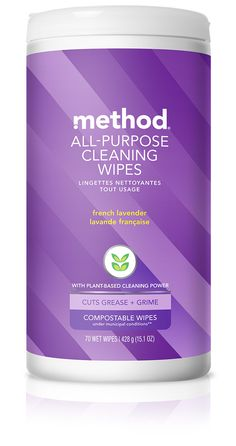 method | all-purpose cleaning wipes | french lavender 70 wipes