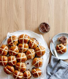 Sour-cherry hot cross buns