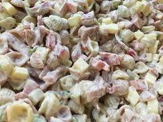 Voita ja Suolaa: Meetvurstisalaatti Salad Dressing, Pasta Salad, Potato Salad, Goodies, Food And Drink, Snacks, Baking, Ethnic Recipes, Koti