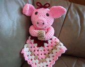 Piggy Lovey crochet pattern - Instant download