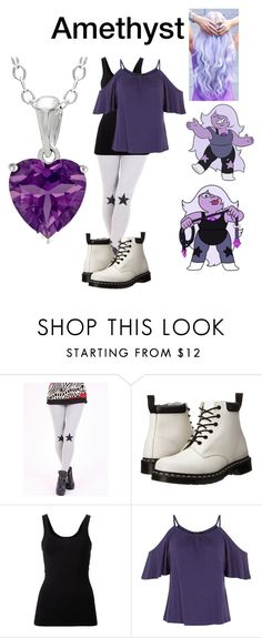 """Amethyst/Steven Universe Inspired"" by xxdamarisxxx ❤ liked on Polyvore featuring Dr. Martens and Theory"