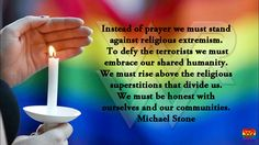 Don't pray for Orlando, reject religious extremism.
