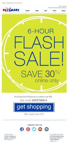 PetSmart flash sale email 2014