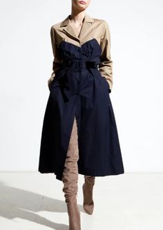 Winter Outerwear Seasonal Style Guide 2019. Trench coats are one of the most flattering designs of Outerwear. With structured shoulders and a collar, and a tie waist to enhance your natural body shape. An on trend piece which looks good and lasts from season to season, a wardrobe staple you can rely on time and again. Denim Trench Coat, Classic Trench Coat, Parka Coat, Trench Coats, Winter Puffer Jackets, Stylish Coat, All Black Outfit, Timeless Fashion, Style Guides