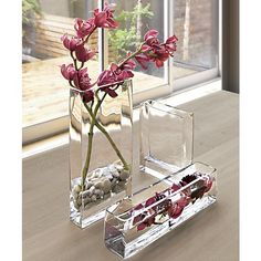 Brooklyn Long Vase in Vases | Crate and Barrel