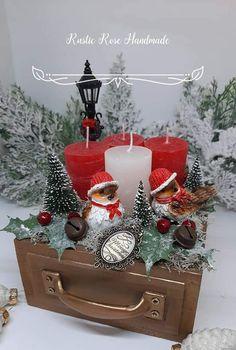 Winter Christmas, Christmas Ideas, Christmas Decorations, Christmas Ornaments, Holiday Decor, Advent, Wreaths, Rustic, Rose