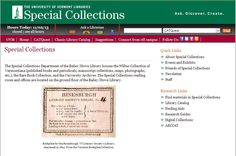 University of Vermont Libraries Special Collections #genealogy http://library.uvm.edu/sc/
