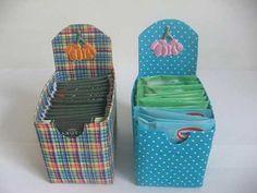 Artesanato com Caixa de Leite organizador de chás