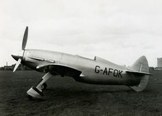 Napier Heston Racer (G-AFOX) Was a 1940s British Single Seat Racing Monoplane Designed for an Attempt on the World Air Speed Record - The Prototype Crashed on its Maiden Flight, Destroying the Aircraft. The Company Decided to Cancel the Program