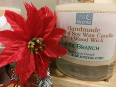 Soy Woodwick Candle Winter & Holiday Fragrance by LunaLucerna Wood Wick Candles, Fall Candles, Soy Wax Candles, Hot Spiced Cider, Hot Apple Cider, Candle Containers, Burning Candle, Winter Holidays, Fragrance