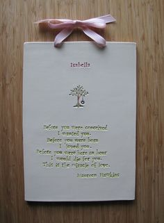 Wheels spinning: customize a small plaque to remember Teacup's baby dedication.